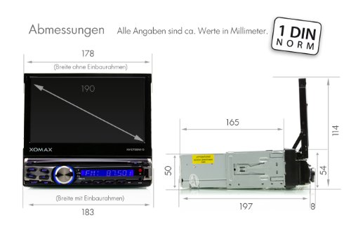 XOMAX XM-DTSBN915 Radio de coche / Autoradio 1DIN con Navegación GPS con Mapas de Europa (39 países) + Bluetooth Manos libres + 7