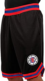 Ultra Game NBA Los Angeles Clippers Mens Woven Basketball Shorts, Team Color, Small