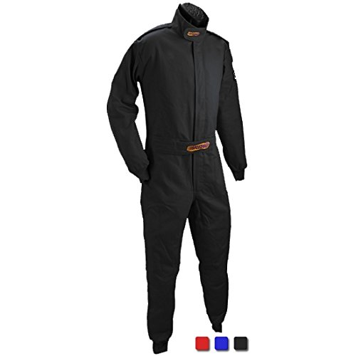 1 One Piece Race Suits - Black Economy Suit SFI-1, XL