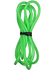 Ktoyols Green Silicone Tubing Food Grade Silicone Rubber Tube Flexible Hose Tube Water Pi-pe for Pump Transfer Food Machinery Connecting Pipes, 1mm ID x 3mm OD 1 Meter