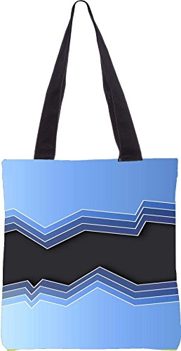 Snoogg Mirrow Waves 2469 Tote Bag Shopping Utility 13,5 X 15 Pollici Realizzata In Tela Di Poliestere