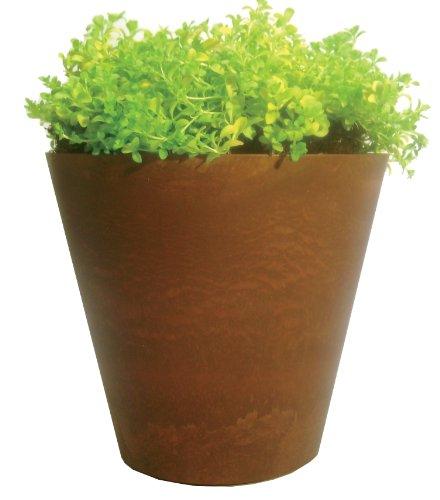 Napa Round Pot (Artstone Napa Round Planter, 12-Inch, Teak)