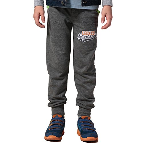 - Leo&Lily Boys Sports Fleece Husky Rib Waist Joggers Sweatpants (Gray, 14)