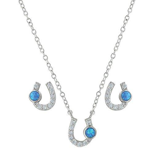 Lightfoot Horseshoe Jewelry Set (Montana Silversmiths Jewelry Set)