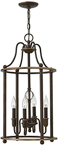Hinkley 4354LZ Traditional Four Light Foyer from Elaine collection in (Traditional Foyer Lights Hinkley Lighting)