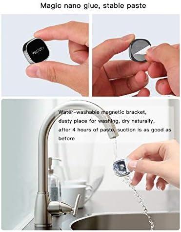 YESIDO Super Mini Magnet Handyhalterung f/ürs Auto Ros/è 2 Magnetplatten magnetisch f/ür alle Handys Kleber wiederverwendbar