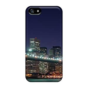 PC Case For Iphone 5/5S Cover With Beautiful Brooklyn Bridge New York City