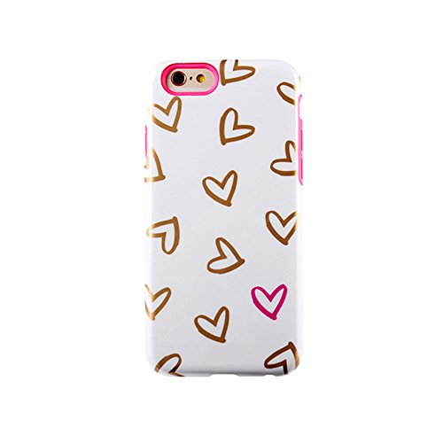 High Quality Colourful Series Silica Gel + PC Dual Layers Phone Case Cover For Iphone 6 4.7Inch (sx-15)