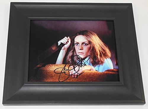 halloween-jamie-lee-curtis-signed-autographed-8x10-photo-gallery-framed-loa