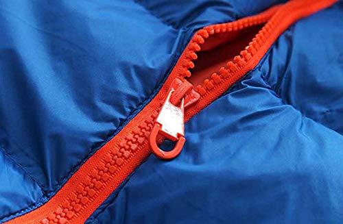 Del Gilet Di Chiusura Giù Arancione Blau Outwear Degli Della Cappotto Bobolily Con Con Uomini Maniche Lampo Rivestimento Cappuccio vSSr6t