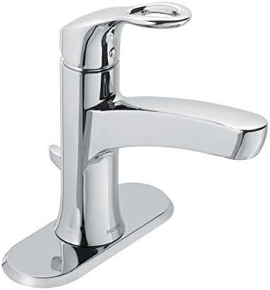 Moen WS84900 Kleo One Handle Bathroom Faucet Low Arc Lavatory Sink Fixture,  Chrome