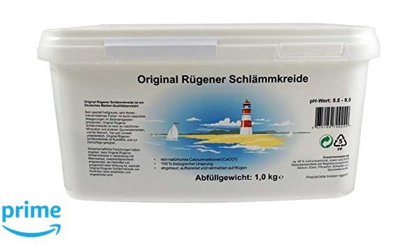 Original rügener schlämmk reide/1, 0 kg Calcio policarbonato/100% ecológico: Amazon.es: Jardín