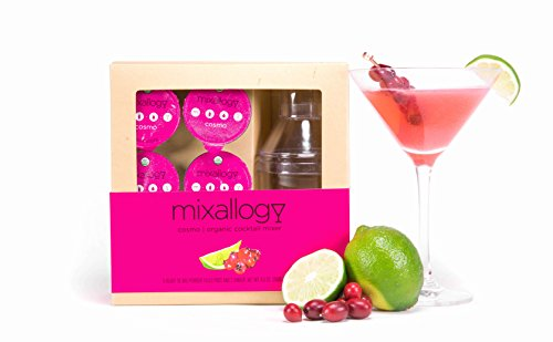 mixallogy Cosmo Powdered Cocktail Mix & Mini Shaker Set - 6 Servings
