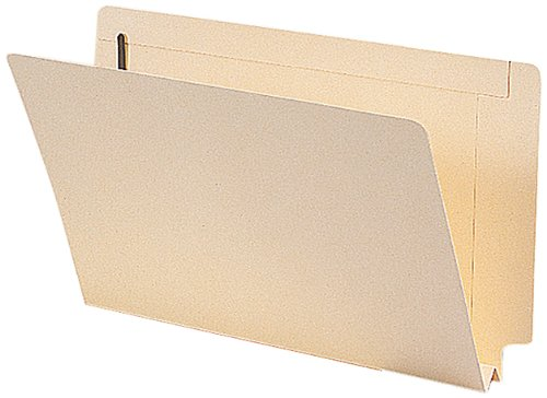 Smead Extra Capacity End Tab Fastener File Folder, Shelf-Master Reinforced Straight-Cut Tab, 2 Fasteners, 1-1/2