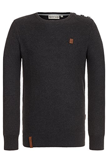 Naketano Men's Knit Sweater Dääämpfen IV Anthracite Melange, L by Naketano