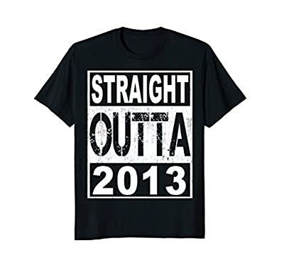 Kids Straight Outta 2013 T-Shirt Funny 5th Birthday Gift