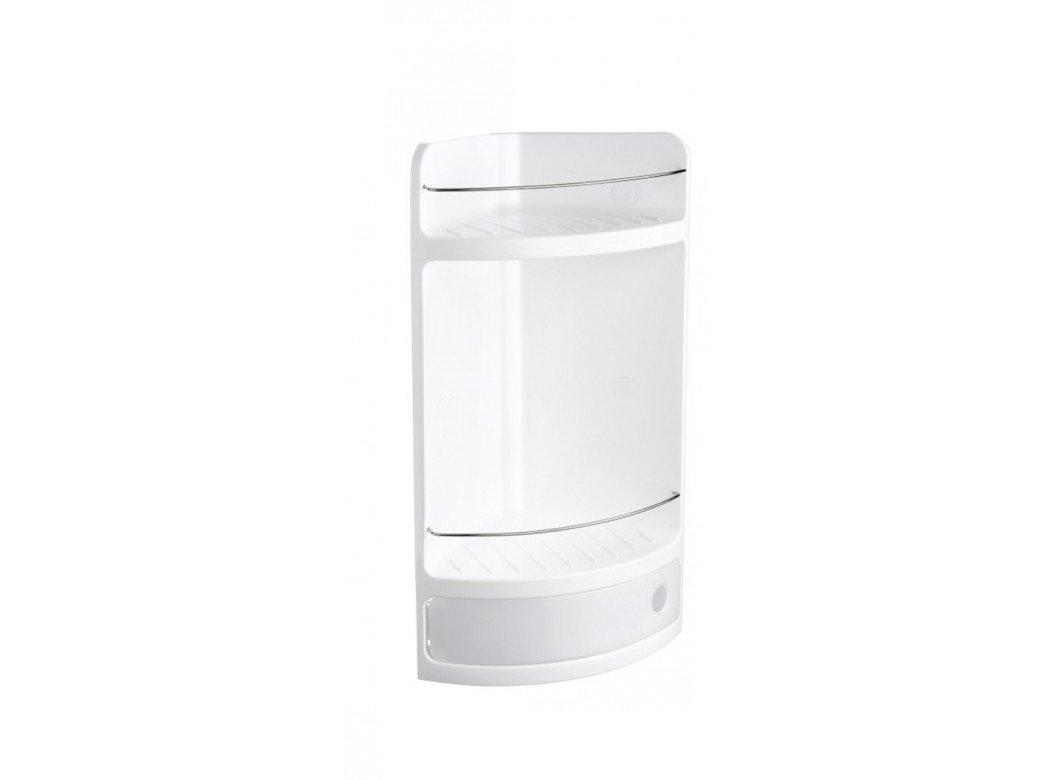 Tatay, Scaffale da angolo con cassetto, in plastica, Bianco (Glace), 28,5 x 19 x 50 cm 4432001