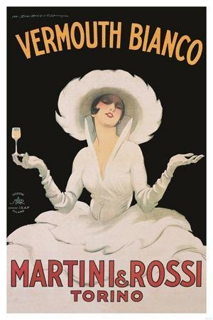 Innerwallz 11x14 Poster Print Martini & Rossi Vermouth Bianco ()