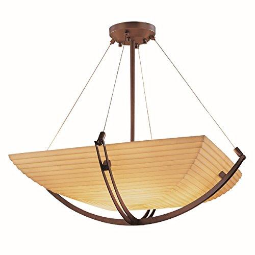 Justice Design Group Lighting PNA-9721-25-SAWT-DBRZ-LED3-3000 Porcelina-Crossbar 22