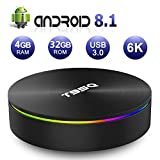 Android 8.1 TV Box,[2019 Updated Edition] Smart Android TV Box Media Player Quad-Core Amlogic S905X2 64bit 4GB RAM 32GB ROM Support 5.8G/ Band WiFi/H.265/ BT4.1/ USB 3.0/ 1000M LAN/ 3D/4K Ultra HD