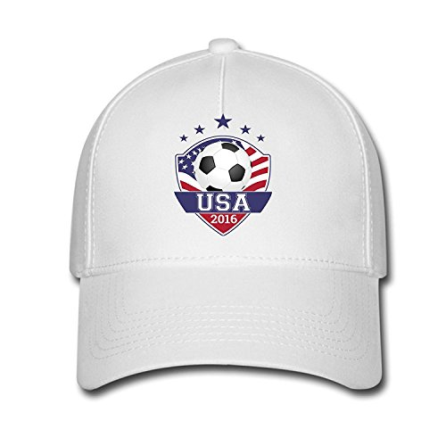 DEBBIE Unisex 2016 Rio Olympic Games TEAM USA Soccer Baseball Caps Hat One Size White
