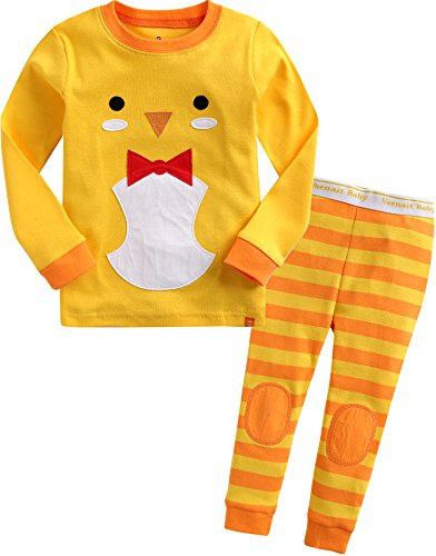 Baby Girl Chick (Vaenait Baby Girls Easter Eggs Chicks Sleepwear Pajama Set Tie Chicky XL)
