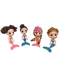 New JJMG 4Set Cake Toppers Decorating Disney Mermaid Dolls Ocean Princess Toy