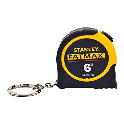 Stanley FMHT33706 Fat Max Keychain Tape Rule, 1/2-Inch - Measurement Tape Keychain