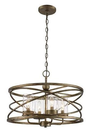 Bel air lighting metal caged 4 light chandelier amazon bel air lighting metal caged 4 light chandelier aloadofball Image collections