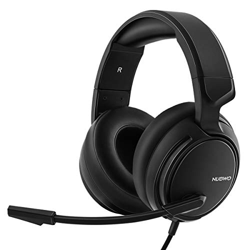 NUBWO N12 Gaming Headset for Xbox One PS4 PC with Flexible Mic Comfort Rotatable Earmuffs, Stereo Sound, Easy Volume Control for Xbox One S/X Playstation 4 Computer Laptop (Black)