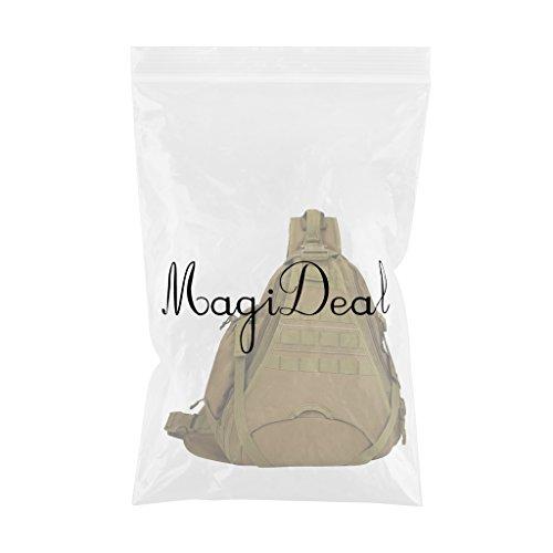 Bolsa Multifuncional de Oscuro Hombro MagiDeal Bolsa Negro Caqui de Pecho dqCnBpw