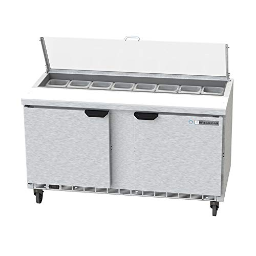 - Beverage Air SPE60HC-16-CL Elite Series Clear Lid Sandwich Top Refrigerated Counter, 60