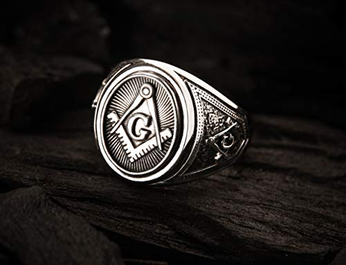 Freemason Masonic Ring, Freemason Master Ring,...
