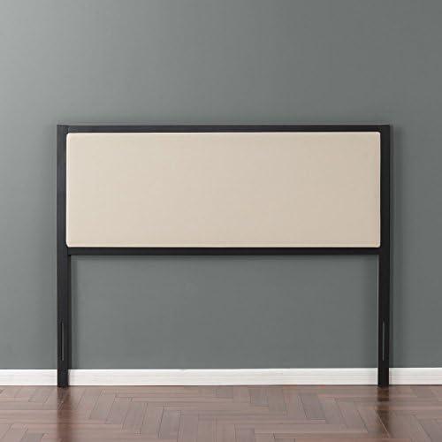 Zinus Kendal Taupe Upholstered Metal Headboard