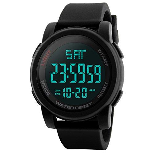Skmei Digital Multi-functional Black Outdoor Sports Watch fo