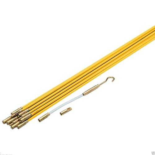 11-x-3-16-fiberglass-wire-cable-running-pulling-rods-fish-new-in-case-kit