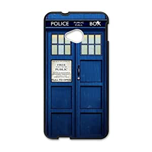 DAZHAHUI Doctor Who blue police box Cell Phone Case for HTC One M7