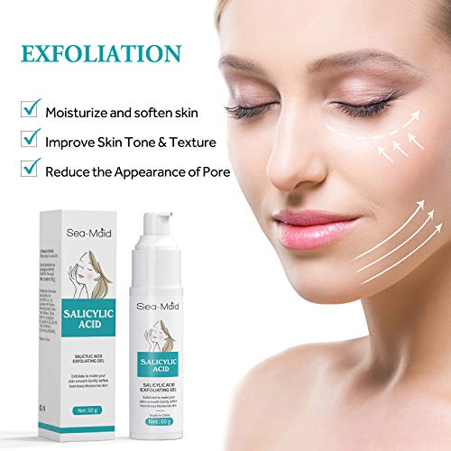 Salicylic Acid Deep Exfoliating Gel, Professionally Peel Cleanser, Rub Away Skin Aging Horniness and Dirt, Moisturize and Soften Skin, Reduce Wrinkles & Fine Lines