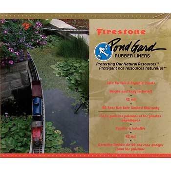 Firestone 45 Mil Epdm Liner - 8 x 10 EPDM Pond Liner