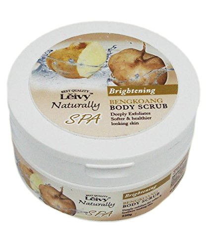 Leivy Bengkoang Body Scrub 250gm / 9oz (Pack of 16 Jars) - FREE EXPRESS SHIPPING - GET IN ONE WEEK - EXFOLIATING, MOISTURIZING, CLEANSING