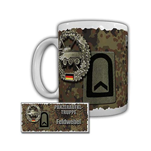 Tank Reconnaissance - Tank Reconnaissance Sergeant Airborne Reconnaissance Company 260 Lebach Rank Insignia Bundeswehr Rank Fw F OR 6 - Coffee Cup Mug