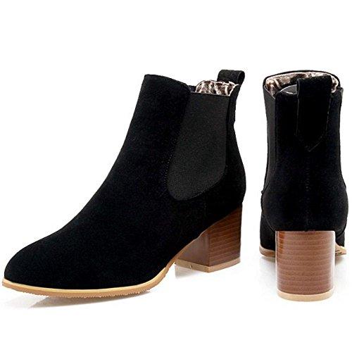 RAZAMAZA Women Simple Ankle Booties Chelsea Boots Slip On Black bdHn48JVc