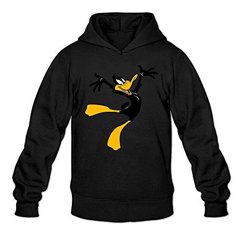 Chris-T Daffy Duck Looney Tunes Men's Long Sleeve Sweater Black US Size L -