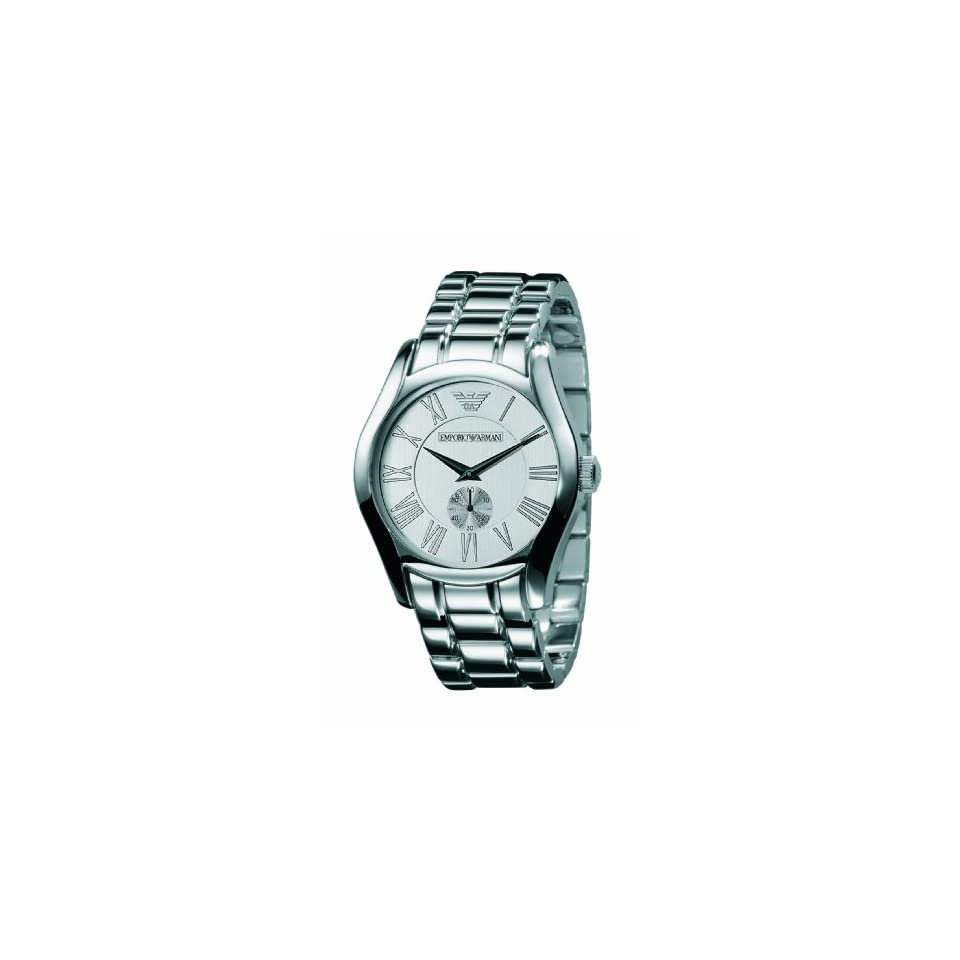 Emporio Armani Mens AR0647 Classic Stainless Steel Silver Dial Quartz Watch