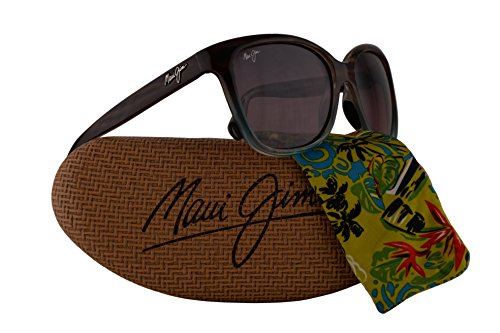 Maui Jim Starfish Sunglasses Sandstone Blue w/Polarized Maui Rose Lens - Wayfarer Jim Maui