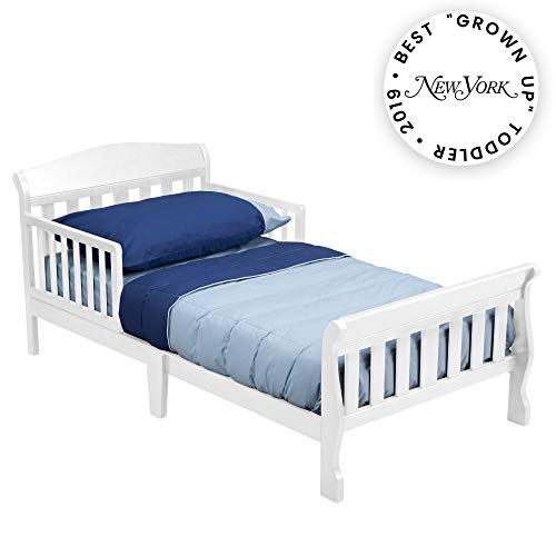 Delta Children Canton Toddler Bed, White (Dream Me Bed Classic Toddler On)