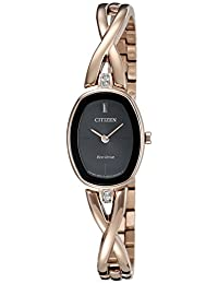 Citizen Women's EX1413-55E-Eco-Drive Silhouette Rose Gold Tone Watch