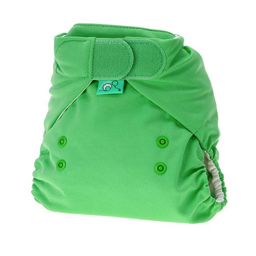 TotsBots PeeNut Reusable Wrap Size 1 'Sweet Pea' in Green Colour for use with the Bamboozle Nappies 5060131211855
