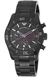 Emporio Armani Men's AR5931 Sportivo Black Chronograph Dial Watch