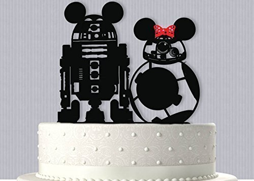 Disney Wedding Cake Toppers (Adventure Park Droids Wedding Cake Topper)